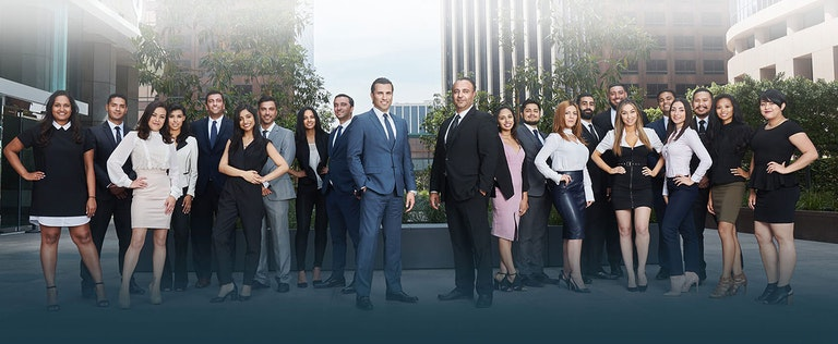 outside group shot of the West Coast Trial Lawyers staff