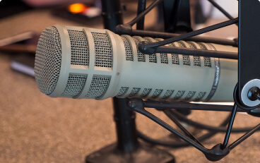Picture of a professional microphone